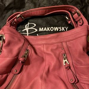 BMakowsky pink leather purse